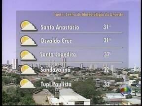 Massa de ar seco predomina no Oeste Paulista - Previsão é de calor, sol e muitas nuvens.