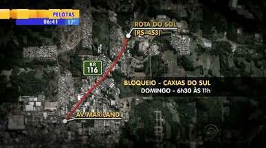 Colocação de passarela bloqueia totalmente trecho da rodovia BR-116 no domingo (28) - A polícia fará o desvio no local.