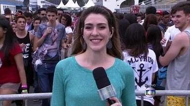 Gabriela Lian mostra entrada do show da cantora Miley Cyrus - Estrela faz shows nesse final de semana no Rio de Janeiro e em São Paulo