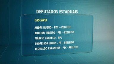 Região elege 9 deputados estaduais - Cascavel, Marechal Rondon, Toledo e Catanduvas vão ter representantes na Assembleia Legislativa