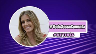#DedeSeccoComenta: cena de beijo com Rodrigo Simas deixou a atriz - Habituada a acompanhar a novela conectada nas redes sociais, Deborah Secco repercute no Gshow os assuntos mais comentados pelos fãs