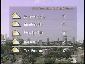 Meteorologia prevê tempo firme no Oeste Paulista - Veja como devem ficar as temperaturas em algumas cidades.