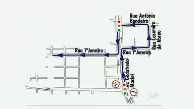 Trânsito da Parangaba terá alteração - Motoristas vão ter que se acostumar com novas rotas.