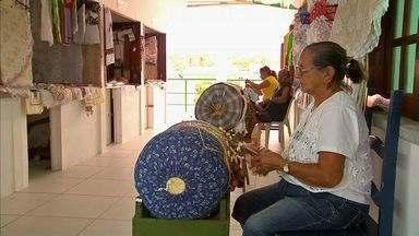 Artesãs de Aquiraz mantêm a tradição das rendas no Estado do Ceará - Trabalho é feito no Centro de Rendeiras da cidade de Aquiraz.