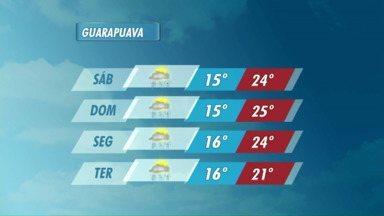 O sábado vai ser quente na região de Guarapuava - O mês de novembro começa com sol e calor e pode chover em todas as regiões.
