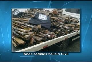 Armas apreendidas em Salinas são destruídas em Montes Claros - Cerca de 2 mil armas foram destruídas nesta sexta-feira (31)