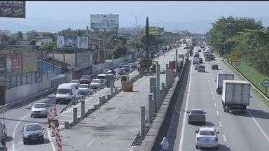 Trechos em obra do VLT foram vistoriados nesta sexta-feira (31) - Veículo Leve sobre Trilhos ligará Santos e São Vicente.