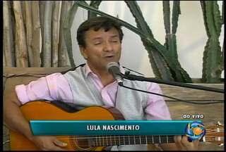 Cantor Lula Nascimento se apresenta no GRTV - O cantor está com um novo trabalho.