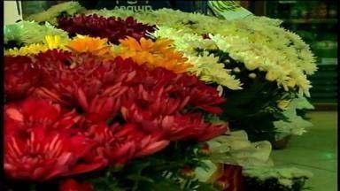 Semana que antecede Dia de Finados aumenta vendas de velas e flores - A procura por flores artificiais aumentou no comércio em Erechim, RS.