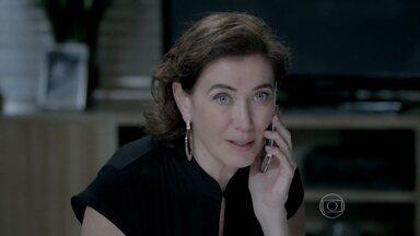 Maria Marta tenta acalmar José Pedro - Ela revela que José Alfredo teme a fiscalização nas contas da empresa