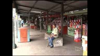 Comerciantes reclamam de prejuízos nas vendas no camelódromo de Imperatriz - Comerciantes reclamam de prejuízos por causa de queda nas vendas no