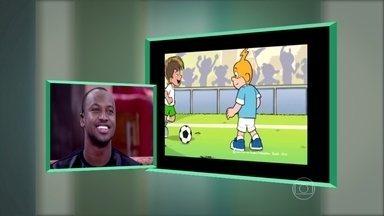Thiaguinho dubla voz de Neymar em desenho animado - Cantor fala do encontro com Maurício de Sousa e comenta como foi a experiência com dublagem