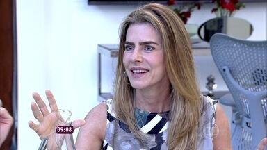 Maitê Proença conversa sobre programa esportivo - Atriz conta que é botafoguense e está aprendendo sobre o esporte
