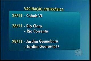 Começou ontem,atrasada, a campanha antirrábica em Petrolina - A meta da Secretaria de Saúde Municipal é vacinar, no mínimo, 80% desses animais