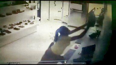 Flagrante de furto de lojas no Cariri do Estado - Veja o vídeo.