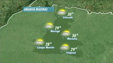 Tem previsão de chuva para esta quarta-feira na região de Maringá - As temperaturas permanecem altas