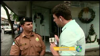 Polícia Militar reforça o efetivo no fim de ano - Com as festas de fim de ano e compras a PM dá dicas de cuidados com a segurança.