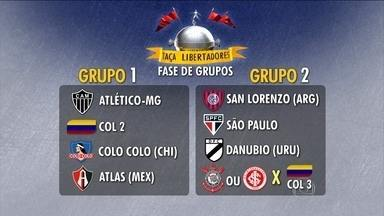 Sorteio da Libertadores de 2015 coloca São Paulo e São Lorenzo no mesmo grupo - Corinthians ou Internacional ainda podem integrar esse grupo, que também conta com o Danubio, do Uruguai.