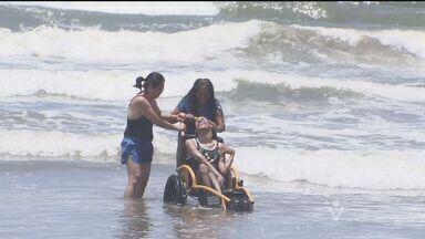 Bertioga participa da Virada Inclusiva em comemoração ao Dia da Pessoa com Deficiência - Cidade recebeu turma de Barueri, em São Paulo.