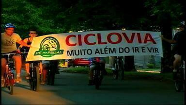 Cerca de 70 ciclistas protestam por ciclovias em Erechim, RS - O município ainda não tem nenhuma ciclovia.