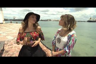 Paula Magalhães da dicas de moda para valorizar o corpo - Direto da ilha dos Frades, Paula Magalhães conversa com a estilista Carol Brasil que fala de moda praia e dá dicas de quais modelos valorizam cada tipo de corpo.