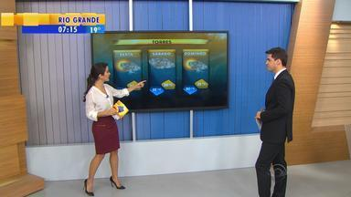 Tempo: previsão de chuvas para litoral norte do RS - Domingo (14) pode ter tempo bom, pois chuvas estão previstas para a madrugada.