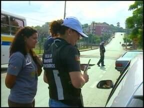 Blitz Educativa alerta para os perigos da alta velocidade - Durante duas horas a blitz foi realizada no bairro José Bonifácio, em Erechim