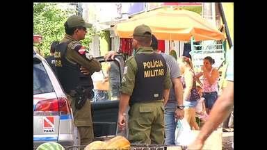 Operação 'Boas Festas' terá 100 PMs por dia no comércio de Santarém, PA - Esquema diferenciado iniciou na segunda e segue até o dia 1º de janeiro. No total, 250 policiais serão envolvidos na operação de fim de ano.