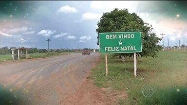 Me Leva Brasil visita a cidade Feliz Natal, no Mato Grosso - Por causa de um temporal, trabalhadores da região passaram noite de Natal em povoado. Com uma placa, cidade foi batizada de Feliz Natal.