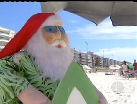 Praias ficaram lotadas no feriado de Natal em Cabo Frio, no RJ - A boa temperatura influenciou na lotação.