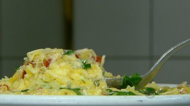 Fernando Kassab ensina receita de risoto de rúcula com tomate seco - Fernando Kassab ensina receita de risoto de rúcula com tomate seco