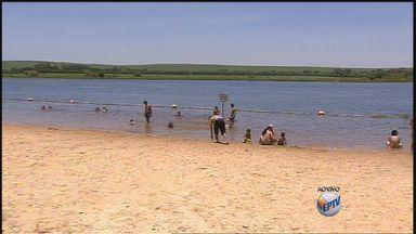 Prainha de Sertãozinho, SP, é opção de lazer para as férias - Local está liberado para banho.