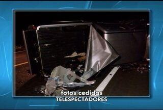 Quatro pessoas morrem em acidente envolvendo dois veículos próximo a Engenheiro Navarro - Entre os mortos está um um bebê de 1 anos e seis meses.