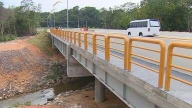 Nova Ponte da Ponta Negra é entregue à população de Manaus - Estrutura deve facilitar escoamento de veículos em dia de grandes eventos no complexo.