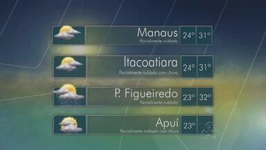 Confira previsão do tempo deste fim de semana para Amazonas - Sistema de Proteção prevê chuvas em quase toda região.
