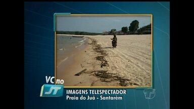 Semma fala sobre os procedimentos adotados contra motociclistas flagrados em praia - Flagrante foi realizado pela equipe da TV Tapajós na praia do Juá.