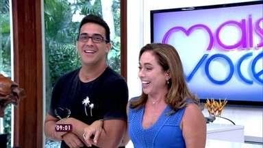 André Marques e Cissa Guimarães estreiam no comando do Mais Você - Dupla mostra que quebrou Buda do cenário do programa