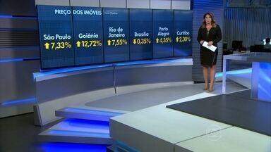 Preço médio dos imóveis reduz ritmo de alta em 20 cidades brasileiras - Informação foi revelada pelo índice FipeZap; foi a menor variação em 4 anos. Das 20 cidades pesquisadas, sete tiveram reajustes abaixo da inflação.