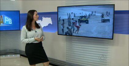 Quadriciclos são flagrados circulando nas areias da praia de Intermares, na Paraíba - Os veículos causam riscos aos banhistas e são proibidos por lei.