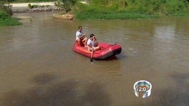 Bombeiros retomam buscas por menino desaparecido no rio Paraíba - Criança foi arrastada por correnteza neste domingo (11) em São José.