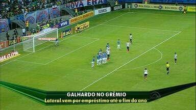 Novo reforço, lateral Galhardo chega na segunda para assinar com Grêmio - Jogador de 23 anos deve ser integrado à delegação em Gramado até terça-feira.