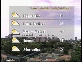 Temperaturas devem continuar a subir no Oeste Paulista - Confira como ficam as temperaturas na região.