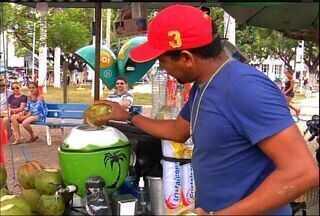 Alta temperatura aumenta venda de produtos que amenizam o calorão do Cariri - Bombeiro alerta para evitar prática de queimadas.