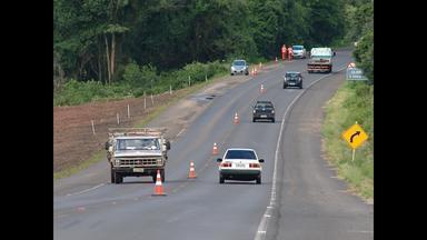 Obras da travessia urbana alteram trânsito na Br 287 e na 158 em Santa Maria, RS - As mudanças são na sinalização e no limite de velocidade.