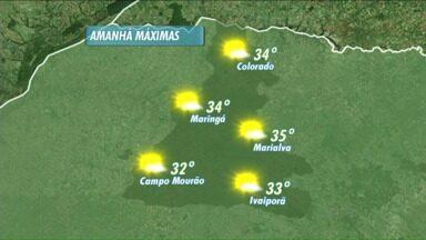 Terça-feira de muito calor na região de Maringá - A máxima podem chegar a 34 graus
