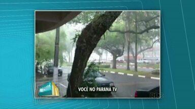 Telespectadores registram temporal em Foz - Chuva foi no fim da tarde