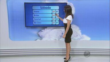 Confira a previsão do tempo na região de São Carlos - Confira a previsão do tempo na região de São Carlos