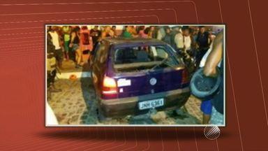 Motorista com sinais de embriaguez atropela quatro pessoas na BA - O acidente aconteceu na cidade de Santo Antônio de Jesus, no Recôncavo Baiano. Duas vítimas estão em estado grave.