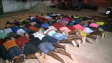 81 são presos em festa facção criminosa em São Luís - 36 foram encaminhados para Pedrinhas