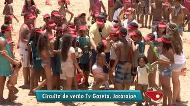 Circuito de verão da TV Gazeta atrai banhistas em praia de Jacaraípe, no ES - Circuito já passou por praias de Guarapari e Vitória.